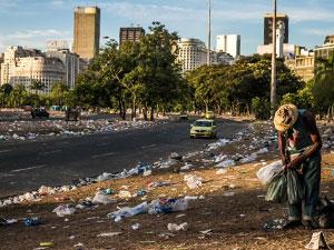 Последствия забастовки мусорщиков в Рио