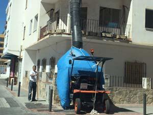 Рукав для строительного мусора в Испании