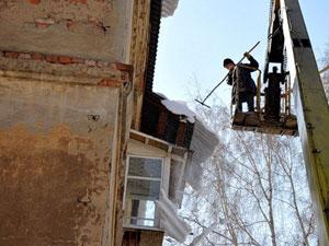 Сроки для уборки снега с крыши