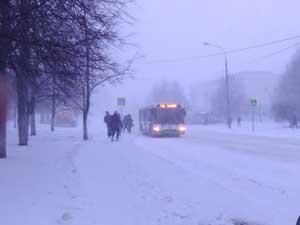Снегопад 25 декабря